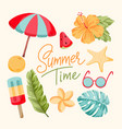 tropical summer elements vector image vector image