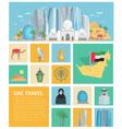 United Arab Emirates Decorative Icons Set vector image