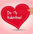 Valentine holding heart vector image