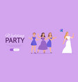 wedding party background banner vector image vector image