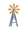 windmill water pump traditional construction vector image vector image