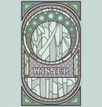 winter banner in art nouveau style vector image vector image