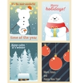 Winter postcards set vector image vector image