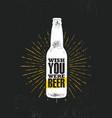 wish you were beer craft beer local brewery vector image vector image