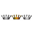 with set crowns isolated clipart vector image vector image