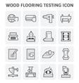wood floor test vector image