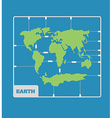 World Map plastic model kit geography Continents vector image vector image