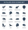 zoo icons vector image vector image