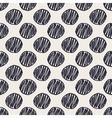 Geometric hand drawn polka dots seamless pattern vector image