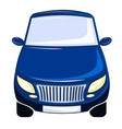 blue car front view bumper vector image