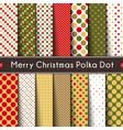 fourteen merry christmas polka dot vector image