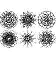 spirograph shapes design elements vector image