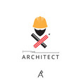 architect symbol template vector image