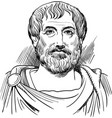 aristotle portrait in line art vector image vector image