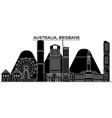 australia brisbane architecture city vector image