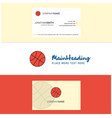 beautiful basket ball logo and business card vector image vector image