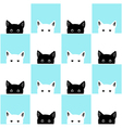 blue white cat chess board background vector image vector image