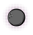 Bowling ball comics icon vector image vector image