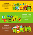 camping web banners vector image vector image