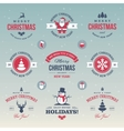 Colored Christmas labels vector image vector image