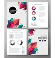 Colorful design template for a business project vector image vector image