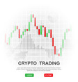 crypto trading background vector image vector image