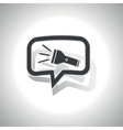Curved flashlight message icon vector image vector image