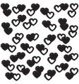 cute wallpaper with hearts vector image