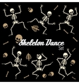 Dancing skeletons in different poses icons vector image vector image