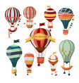 different flying aerostats with bon voyage words vector image vector image