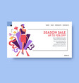 discount or season sale website landing page vector image