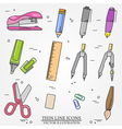 Drawing and writing tools icon thin line for web a vector image vector image
