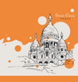 drawing sketch sacre coeur de paris vector image vector image