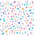 festive seamless pattern with glitter confetti vector image
