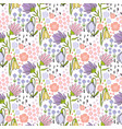 floral seamless hand drawn pattern with small vector image vector image