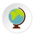 Globe icon flat style vector image vector image