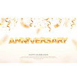 golden anniversary word 3d vector image vector image