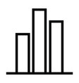 graph icon with outline style vector image