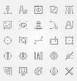 graphic design icons set graphics symbols vector image