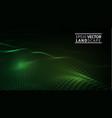 green technology background futuristic hexagon vector image vector image