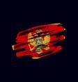 grunge textured montenegrin flag vector image vector image