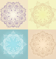 Hand-drawn lotus in east style circular pattern vector image vector image