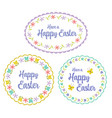 hand drawn pastel happy easter graphics vector image