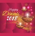 happy diwali 2018 festival vector image vector image