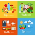 Healthy lifestyle elements vector image vector image