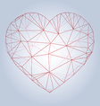 Heart origami low poly Abstract vector image vector image
