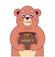 hungry bear holds vector image
