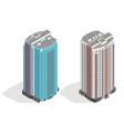 isometric facade a multi-storey building vector image