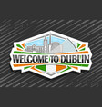logo for dublin vector image vector image