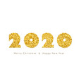 merry christmas card gold number 2020 with text vector image vector image